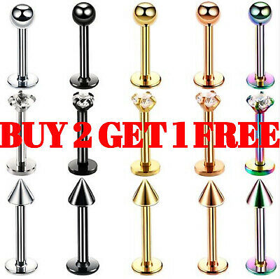 Labret Monroe Lip Bars Tragus Nose Stud Cartilage Helix Ear Ring Ear Piercing