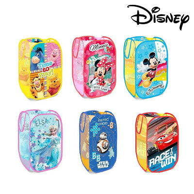 Disney® Kids Pop up Room Tidy Laundry Bag Storage Bag Cars Mickey Minnie Elsa