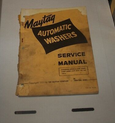 1950 Maytag  Automatic Washers Service Manual