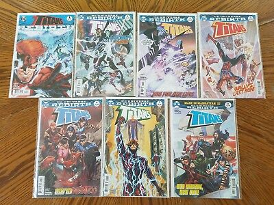 Titans Rebirth Lot # 0 3 4 5 6 7 8 DC Wally West