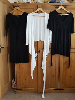 Maternity Bundle Size 12 Next New Look Black Dress White Top Comfy