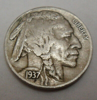 "1937 S Indian Head ""buffalo"" Nickel   *xf - Extremely Fine*   **free Shipping**"