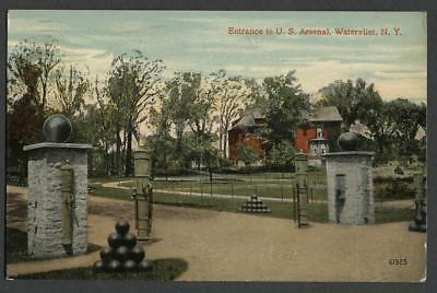 Watervliet Albany County NY: c.1910-12 Postcard ENTRANCE TO U.S. ARSENAL