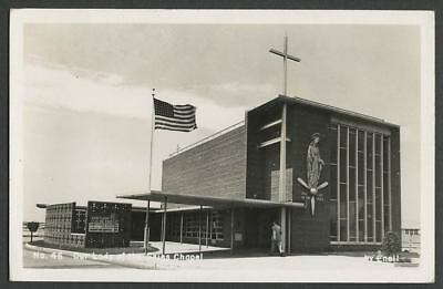 New York City c.1950s Idlewild JFK Airport Postcard OUR LADY OF THE SKIES Chapel