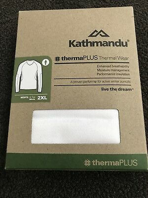 Kathmandu Therma Plus Thermal Wear Men's Long Sleeve Top white size XXL BNWT