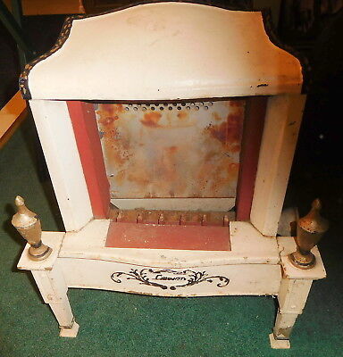 Vintage Antique Lawson Cast Iron Gas Fireplace stove or Heater #106,footed,rare