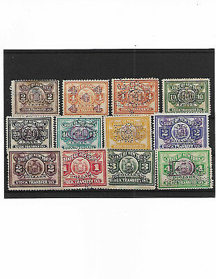 U.s. Lot Of Stock Transfer Revenue Stamps