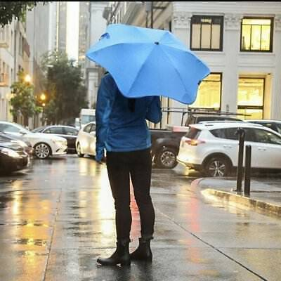 New Blunt Umbrella XS Metro Blue Compact Safe Stylish Wind Resistant