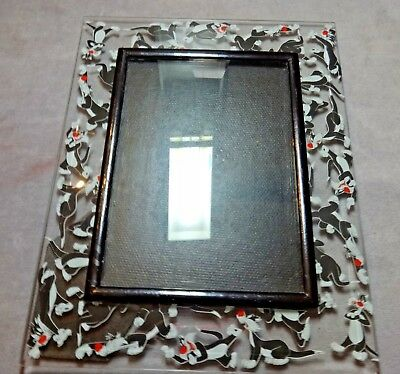 Looney Toons Sylvester the Cat Glass Photo Frame 5 X 7 Inch Tabletop Cat