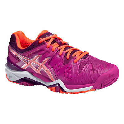 New Asics GEL-RESOLUTION 6 Woman's All Court Tennis Shoes   E550Y 2106 CORAL
