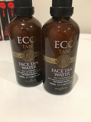 2 brand new Eco tan face water