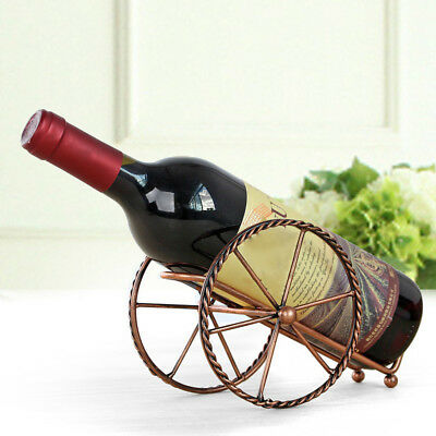 Bottle Holder Iron Wine Rack Retro Handcart Display Stand Kitchen Bar Supplies