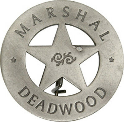 Marshal Deadwood 5 Point Star Old West Lawman Badge Replica