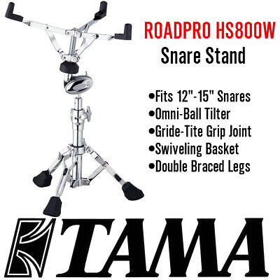 New Tama Roadpro Hs800W Heavy Duty Snare Drum Stand Double Braced Hardware