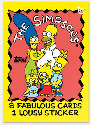 2018 Topps Wrapper Art #40 1990 The Simpsons Card Only from Set #14 PR-322