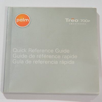 Palm Treo 700P Smartphone Quick Reference & Getting Started Guide Manual