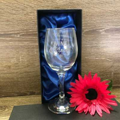 Personalised Engraved 250ml Wine Glass Birthday Gift 18th 21st 30th 40th 50th