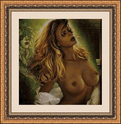 Kit De Punto De Cruz Panda, Cross Stitch Kit Desnudos Artisticos 31593