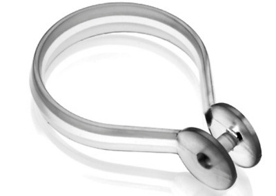 12x Croydex Button Shower Curtain Rings -Button clear ring Gelson Professional