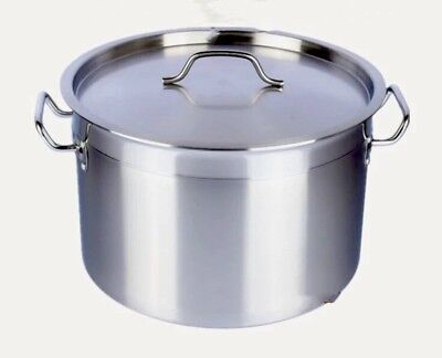 Professional Heavy Duty Large Stainless Steel Cooking Pot W40cm X H26cm & Lid AU