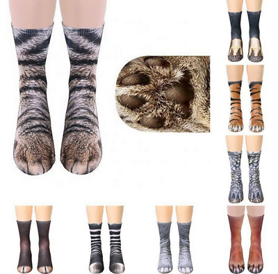 Animal feet socks Unisex Adult Animal Paw Crew Socks Sublimated Print Socks