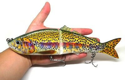 10 Inches Pike Musike Fishing Lure Bait Swimbait Life-like Trout