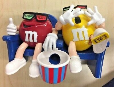 Candy Dispenser Limited Edition Collectible M&M's VINTAGE At the Movies in 3-D