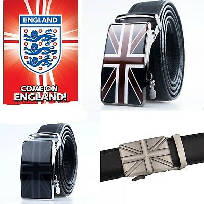 Mens Designer Belts For Men Automatic Leather England Flag Union Jack Belt Uk