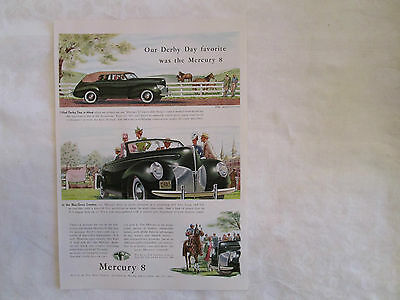 1940 Mercury Four Door Convertible Original Print Advertisement from 1940