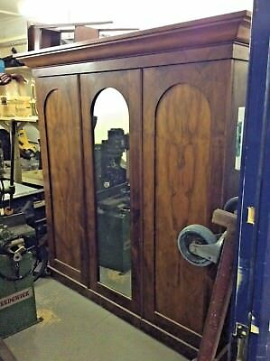 Early Victorian Walnut 3 Door Wardrobe