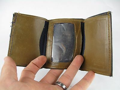 Vintage Levi's Tri-Fold Wallet Billfold Denim and Leather Hipster Accessory