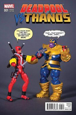 DEADPOOL VS THANOS ISSUE 1 - RARE FIRST 1st PRINT ACTION FIGURE VARIANT COVER