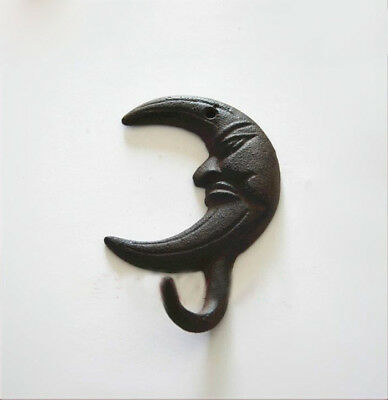 Cast Iron Crescent moon Hook Wall Hanging Hook Home Hook Decor