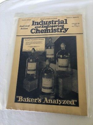 Journal Industrial Engineering Chemistry 1931 Bakers Analyzed History Science An