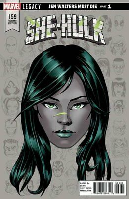 SHE-HULK ISSUE 159 - FIRST 1st PRINT McKONE HEADSHOT VARIANT - MARVEL LEGACY