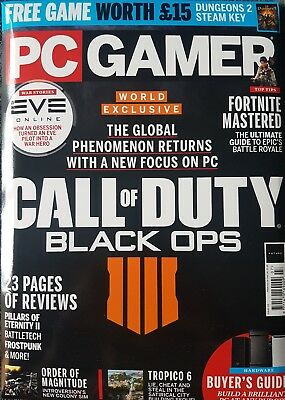 PC GAMER MAGAZINE ISSUE 319 issue July 2018