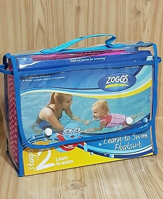 Childrens Zoggs Learn To Swim Girls Floatsuit Buoyancy Stage 2 Age 2/3 15Kg 18Kg