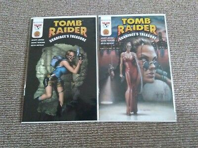 Tomb Raider Scarfaces Treasure #1 Dynamic Forces Df Variant A + B Texeira Covers