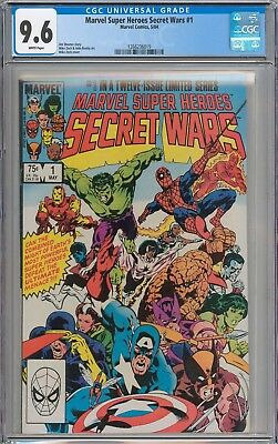 Marvel Super Heroes Secret Wars #1 CGC 9.6 NM+ WHITE PAGES