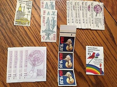US Stamps: Dozens of Booklet Panes, late 1940s-2000s, MNH, Nearly $800+ Catalog.