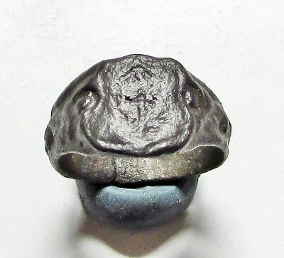 "ANCIENT BYZANTINE BRONZE  RING."" Cros """