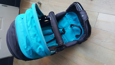 Siège assise pour Kiddy Click'n Move 3 (noir / turquoise)