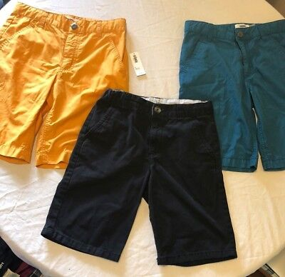 3 pair total, Boys size 8 Shorts OLD NAVY & CHILDRENS PLACE, Yellow, Blue, Black