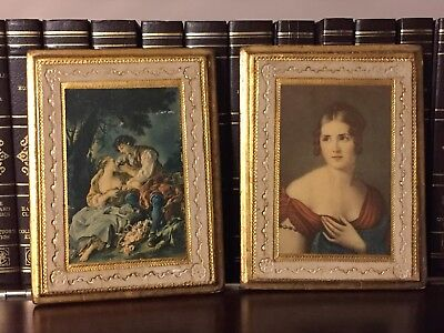 Two Vintage Italian Gilt Wood Wall Plaques - Beautiful!