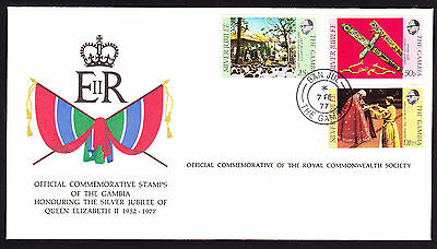 Gambia stamps on National Flag Cachet Royal QEII cover 1977 Silver Jubilee