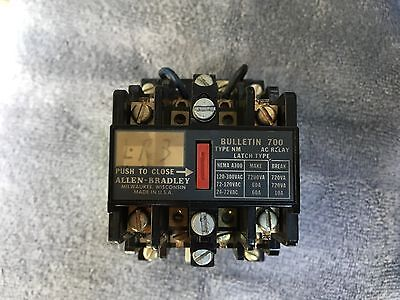 ALLEN-BRADLEY AC LATCH RELAY BULLETIN 700-NM400A1  E  120V  60Hz  110V  50Hz   9