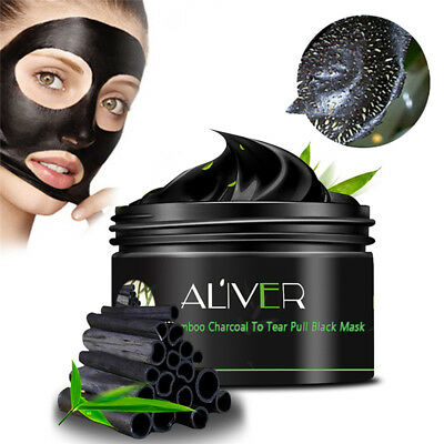 Bamboo Charcoal Blackhead Remover Purifying Deep Clean Peel Off Mud Face Mask AU