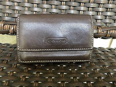 COACH brown leather business card, Credit Card case.. Nice