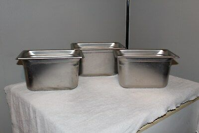 Set Of 3 Vollrath Stainless Steel Super Pan 3
