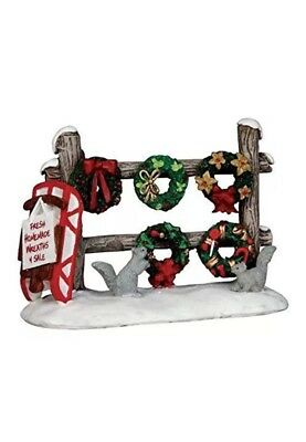 Lemax Fresh Homemade Christmas Wreaths 4 Sale -Holiday Village Accent